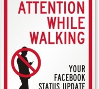 Don't Walk and Facebook Sign