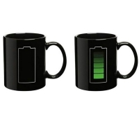 Heat Sensitive Color Changing Battery Level Mug