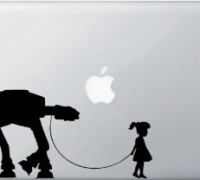 Girl Walking AT-AT - Vinyl Laptop or Macbook Decal