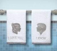 His and Hers Han and Leia Towels Star Wars