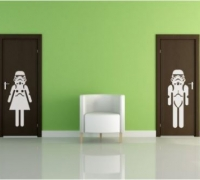 Stormtrooper Mens/Ladies Room Signs