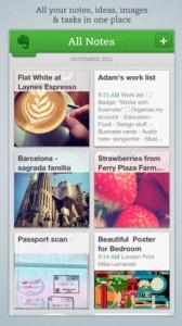 evernote mobile app