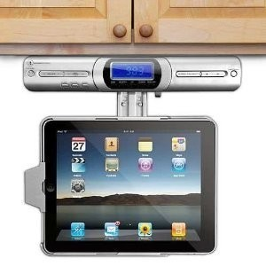 Under Counter iPad Dock, Speakers and Radio