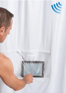 bathroom gadgets iPad Musical Shower Curtain