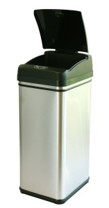 iTouchless Deodorizer Touch-Free 13-Gallon Automatic Stainless-Steel Trash Can