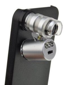 60X Zoom LED iPhone Microscope Micro Lens