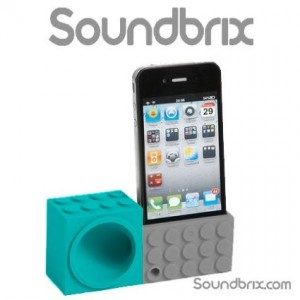 Soundbrix iPhone Lego Stand Amplifier Speaker