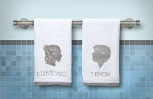 His and Hers Han and Leia Towels (Star Wars)