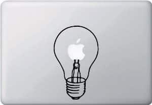 Light Bulb Macbook Decal