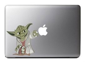 Yoda Apple Decals for Macbook