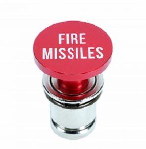 Fire Missile Button Cigarette Lighter Cover