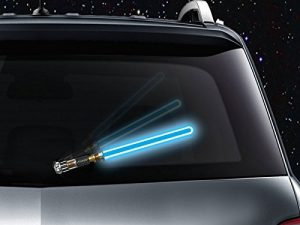 WipeSabers Reflective Saber WiperTags for Rear Wipers (SKYFORCE BLUE)