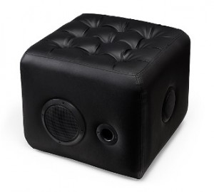 Ottoman with Built-In Bluetooth Speakers