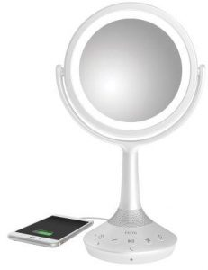 iHome Vanity Mirror with Bluetooth Audio Speakerphone and USB Charging
