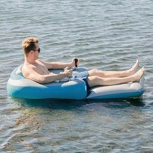 Poolcandy Splash Runner Motorized Inflatable Swimming Pool Lounger