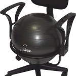 Sivan Health and Fitness Arm Rest Balance Ball Fit Chair