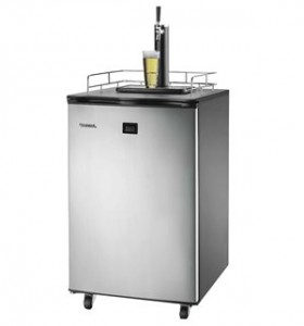 Freestanding Full Keg Kegerator Beer Fridge Dispenser LCD Temp