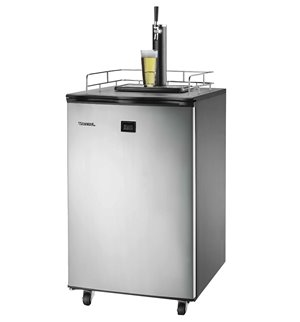 Freestanding Full Keg Kegerator Beer Fridge Dispenser LCD Temp