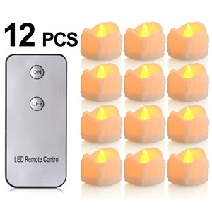 Flickering Flameless LED Candles with Remote Control