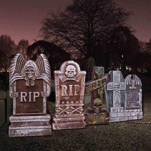 Halloween Foam RIP Graveyard Tombstones (5 Pack)