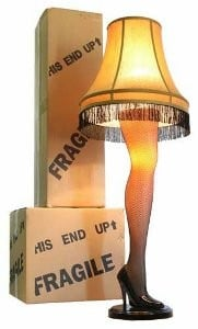 A Christmas Story Full Size Leg Lamp