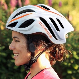 Coros Linx Smart Cycling Helmet w/Bone Conducting Audio | Fully Adjustable Sizing/Connects via Bluetooth for Music, Calls and Navigation