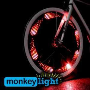 Monkey Light M210 - 80 Lumen Bike Light - 360° Visibility - Wheel & Spoke Light