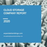 Cloud Storage Company Report 2020 Cover