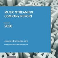 Music Streaming Company Report 2020 Cover
