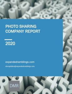 Photo Sharing Company Report 2020 Cover
