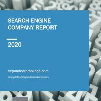 Search Engine Company Report 2020 Cover