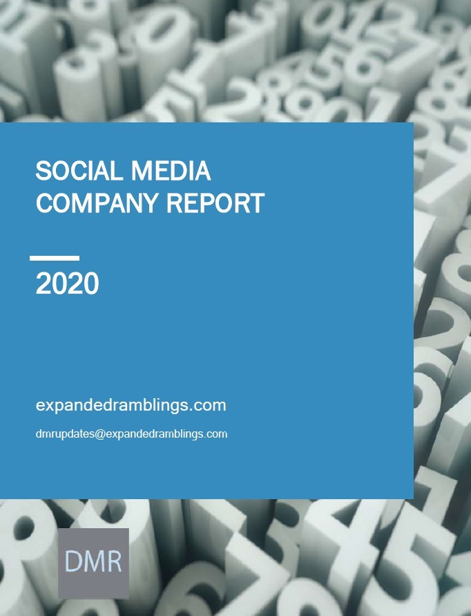 Social Media Company Report 2020 Cover