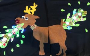Vomiting Reindeer His and Hers Sweaters